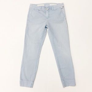 Anthro Pilcro light blue STET Crop Pants A13